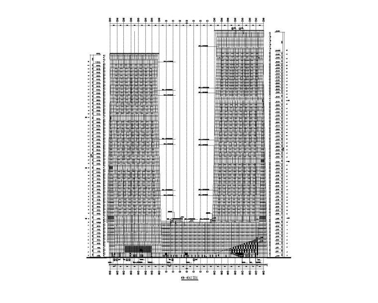 塔楼建筑立面图