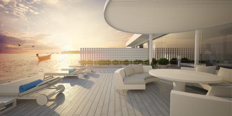 马尔代夫拉格利岛康莱德酒店海底别墅套房TheMuraka丨平面+效果图+摄影