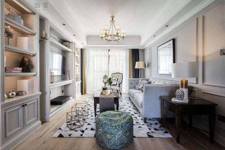 117㎡现代美式风三居,清新雅致的居家氛围!