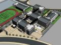 新中式校园建筑模型设计