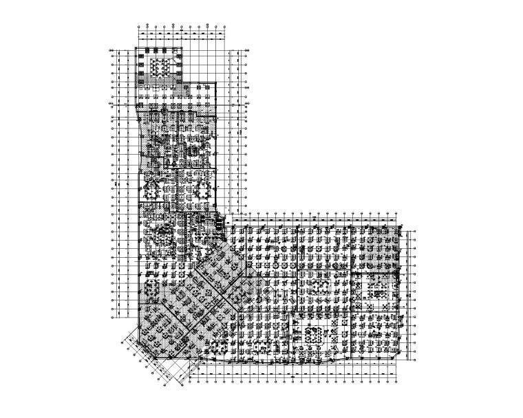 某商业中心3层地下室结构施工图(钻孔桩)