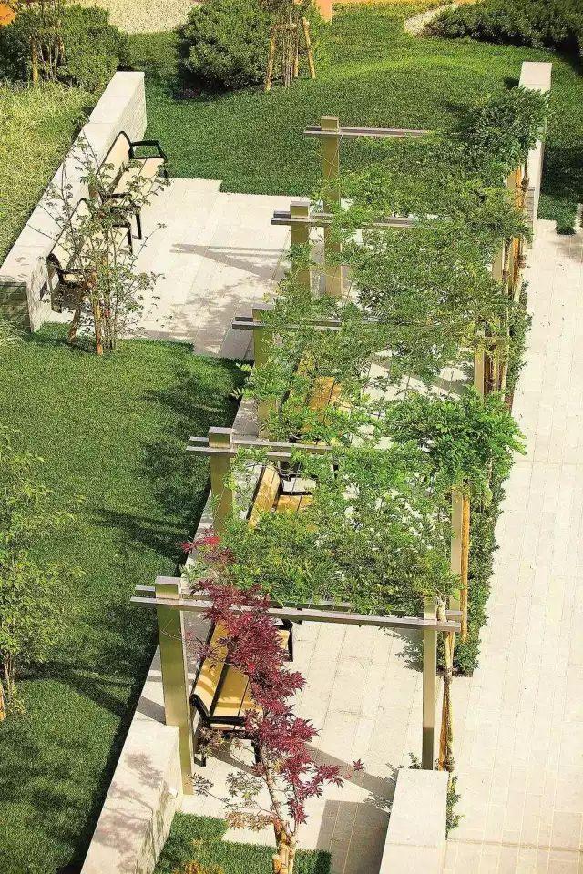 70款·各式景观花架,配上各种藤蔓植物,简直要美翻了!_5
