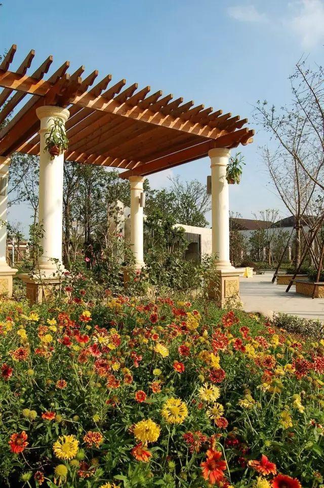 70款·各式景观花架,配上各种藤蔓植物,简直要美翻了!_36