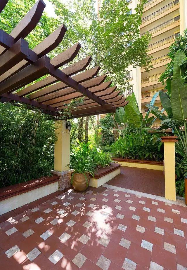 70款·各式景观花架,配上各种藤蔓植物,简直要美翻了!_45