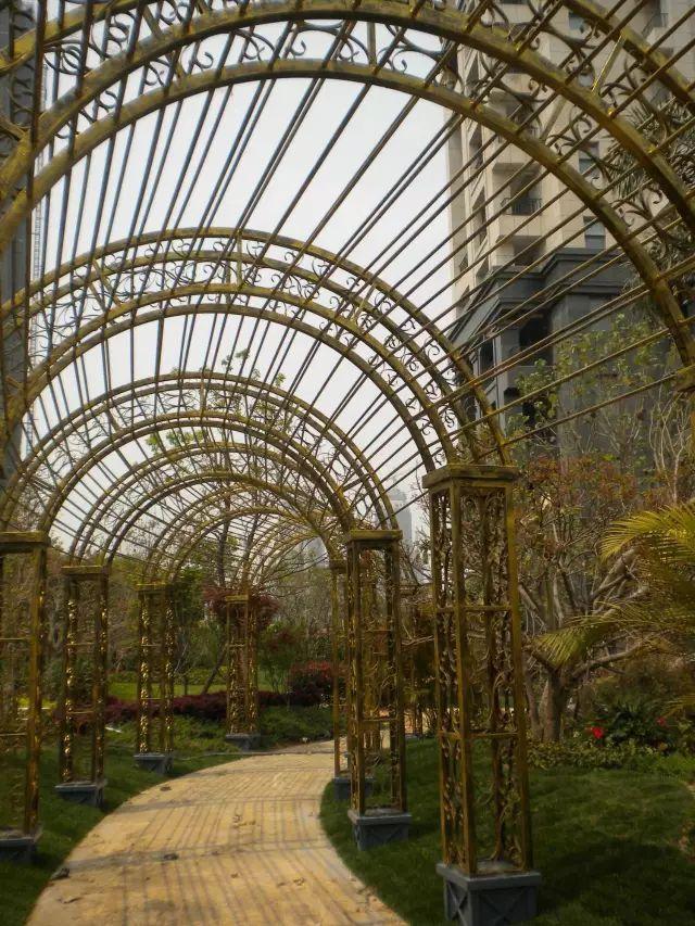70款·各式景观花架,配上各种藤蔓植物,简直要美翻了!_58