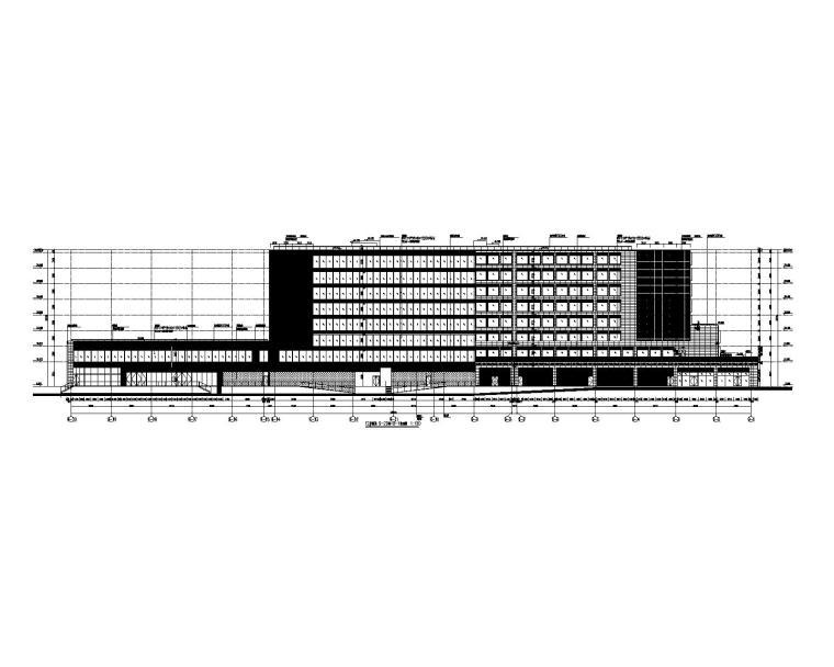 12#楼酒店 9-20轴~9-1轴立面图