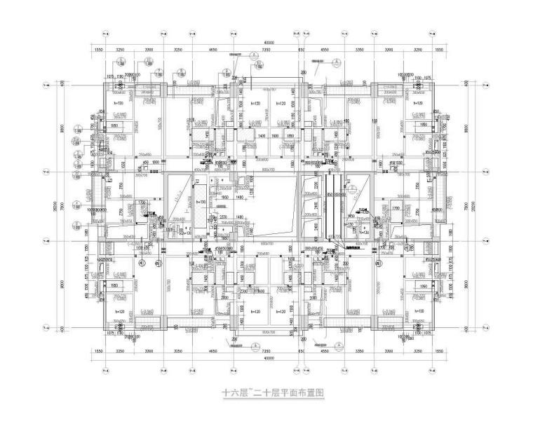 97.6m框筒结构商务办公楼结构施工图(2016)