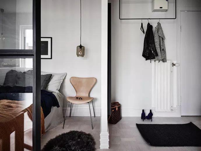 26㎡单身公寓优雅时尚又复古,给生活一个满意的交代!