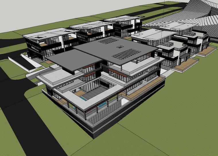 [山东]现代风格海尔企业办公楼建筑模型设计