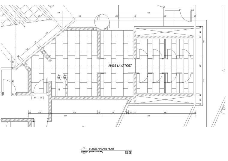 [香港]梁志天-东涌诺富特東倉城酒店丨施工图+设计方案+效果图-卫生间地面铺装图