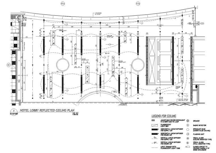 [香港]梁志天-东涌诺富特東倉城酒店丨施工图+设计方案+效果图-酒店大堂顶棚反向平面图