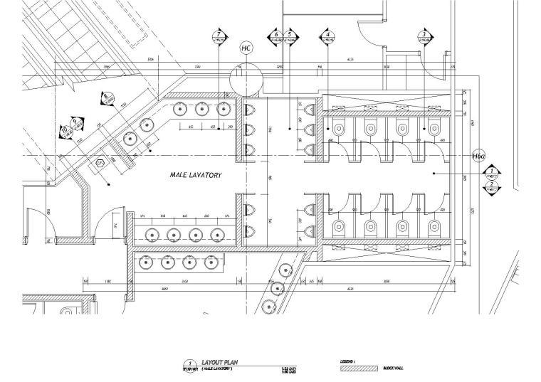 [香港]梁志天-东涌诺富特東倉城酒店丨施工图+设计方案+效果图-卫生间平面布置图
