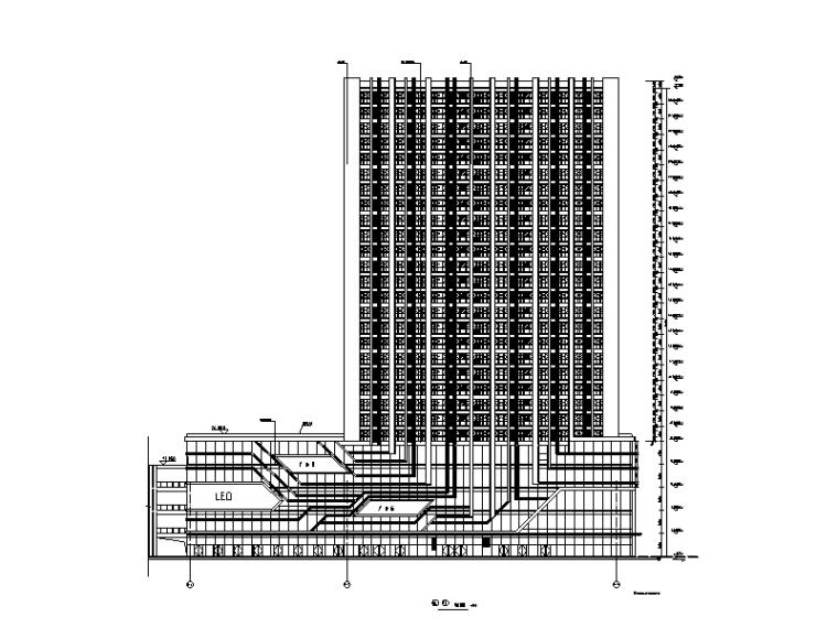 1#楼建筑立面图