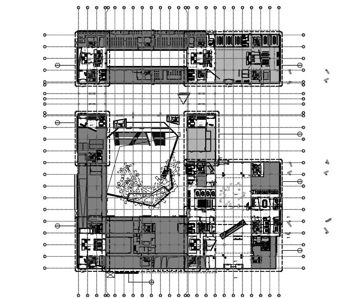 RTKL建筑事务所-联想Lenovo北京新总部办公园公共区域丨施工图+物料表