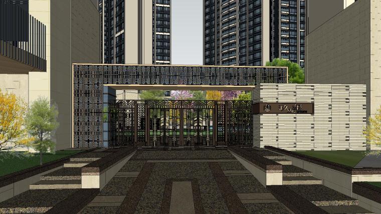 欧陆风格多层住宅区资料下载-[广东]欧陆风格居住区建筑模型设计