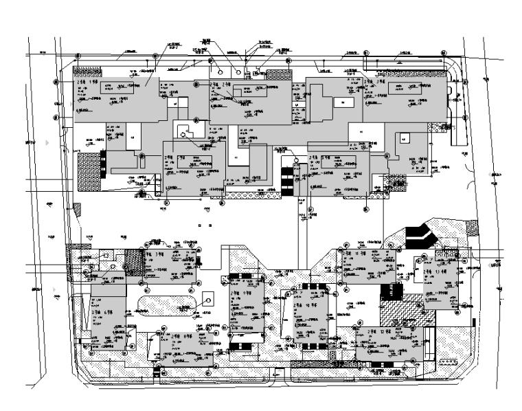 2018成都30万平米办公楼群强电施工图(含地下室人防)