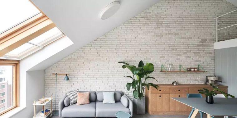 65平loft简约温馨风,三角形屋顶有乐趣!