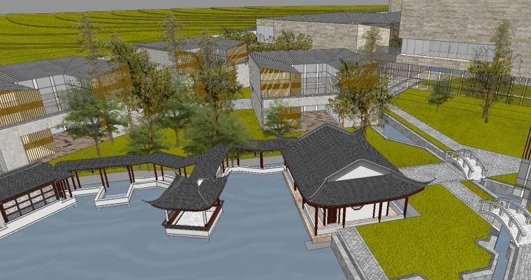 [山东]海尔研究中心企业办公楼建筑模型设计(方案一|中式风格)-方案一 场景八