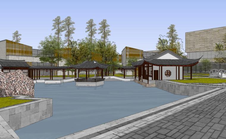 [山东]海尔研究中心企业办公楼建筑模型设计(方案一|中式风格)-方案一 场景七