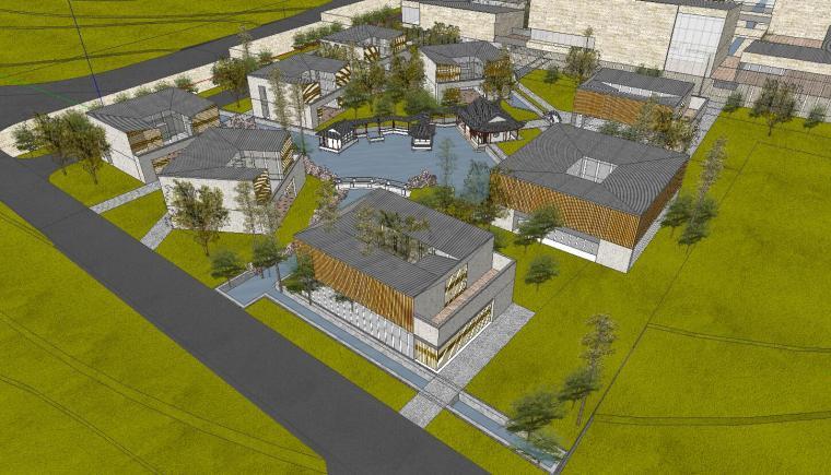 [山东]海尔研究中心企业办公楼建筑模型设计(方案一|中式风格)-方案一 场景六