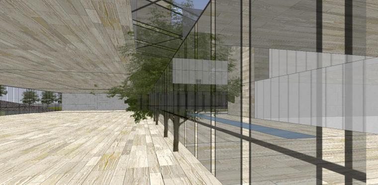 [山东]海尔研究中心企业办公楼建筑模型设计(方案一|中式风格)-方案一 场景五