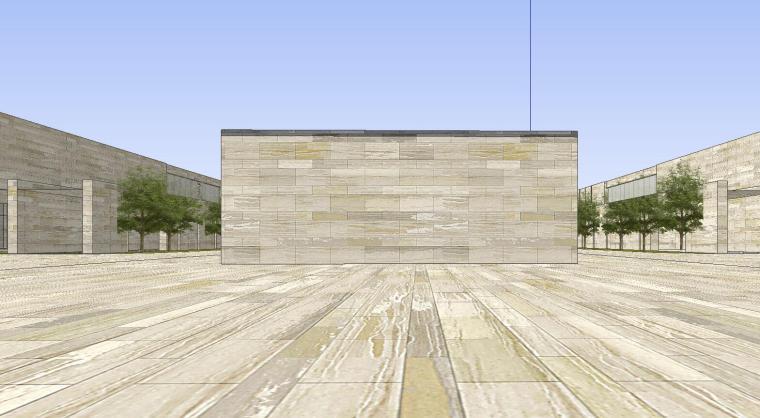 [山东]海尔研究中心企业办公楼建筑模型设计(方案一|中式风格)-方案一 场景四
