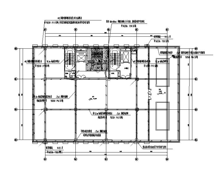 成都高新科技园区办公楼组团电气施工图