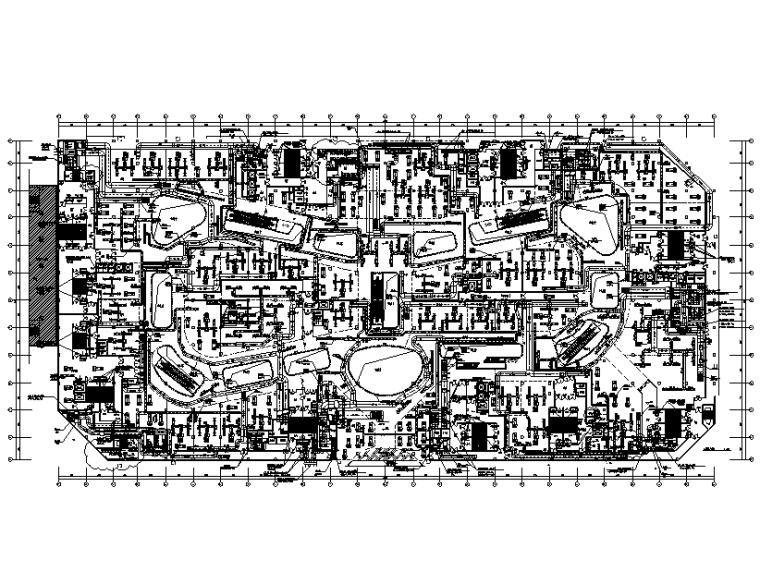 安徽银泰购物中心暖通设计施工图