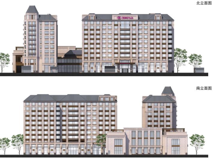 [上海]浦江镇125-3地块浦江皇冠假日酒店建筑设计文本-立面图