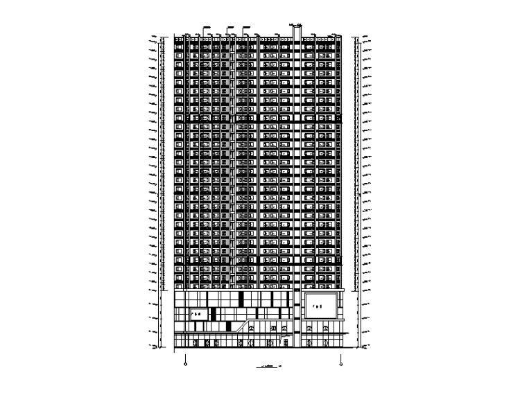 2#楼建筑立面图