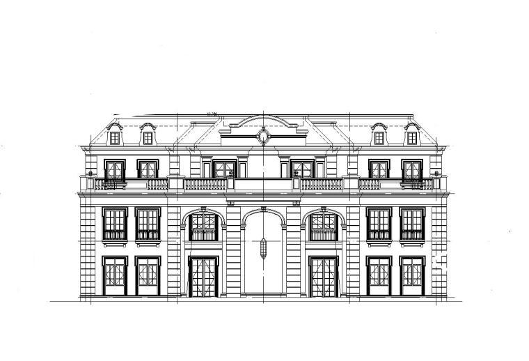 [山东]现代风格海尔企业办公楼建筑初步施工图设计(CAD)