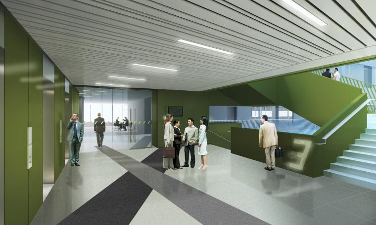 RTKL建筑事务所-联想Lenovo北京新总部办公园公共区域丨官方摄影+效果图