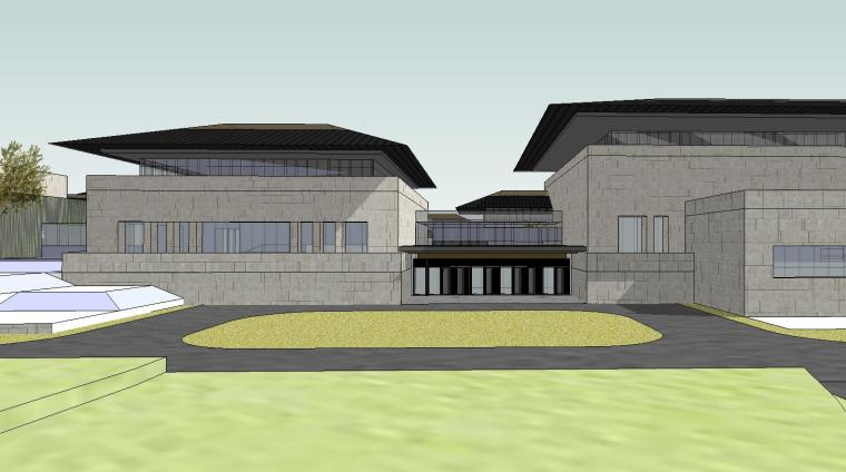 [山东]海尔研究中心企业办公楼建筑模型设计(方案二 中式风格)-场景八