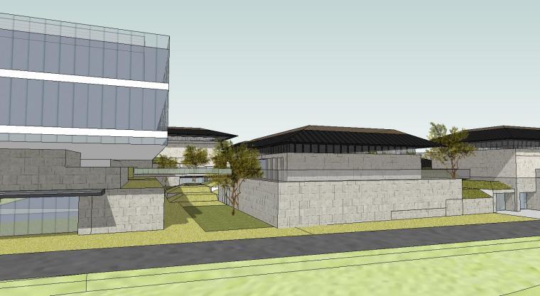 [山东]海尔研究中心企业办公楼建筑模型设计(方案二 中式风格)-场景六