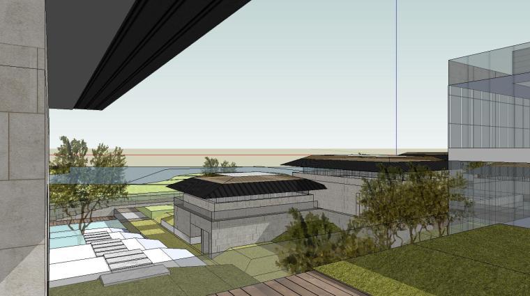 [山东]海尔研究中心企业办公楼建筑模型设计(方案二 中式风格)-场景七