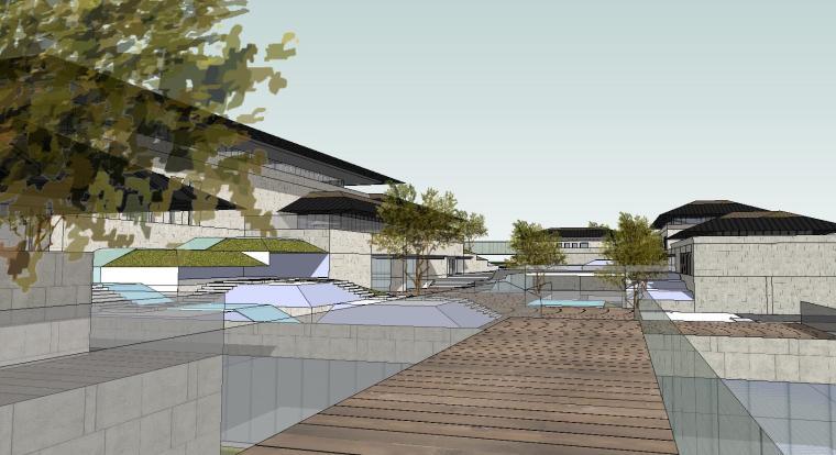 [山东]海尔研究中心企业办公楼建筑模型设计(方案二 中式风格)-场景二