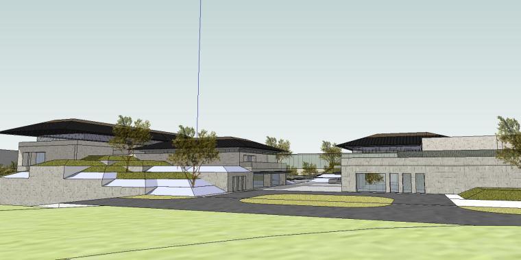 [山东]海尔研究中心企业办公楼建筑模型设计(方案二 中式风格)-场景五