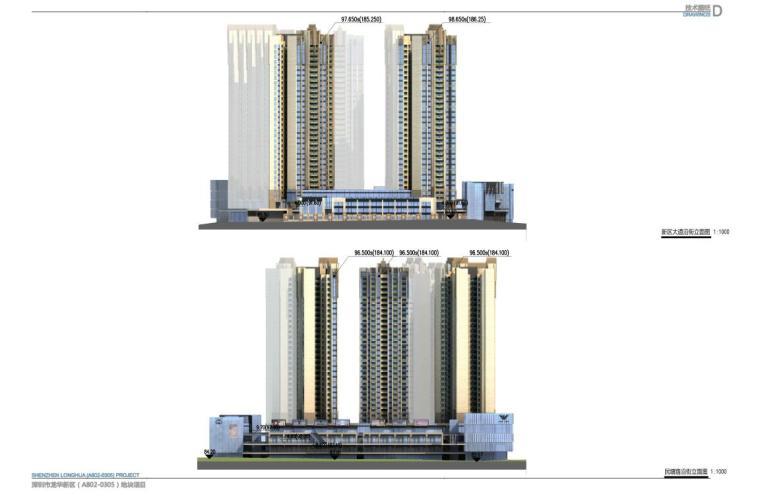 [广东]欧陆风格居住区建筑方案文本(PDF+127页)-立面图
