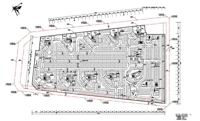 [广东]欧陆风格居住区建筑方案文本(PDF+127页)-地下室一层平面图