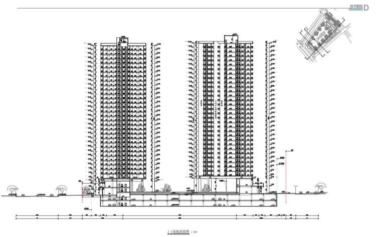 [广东]欧陆风格居住区建筑方案文本(PDF+127页)-1-1剖面图