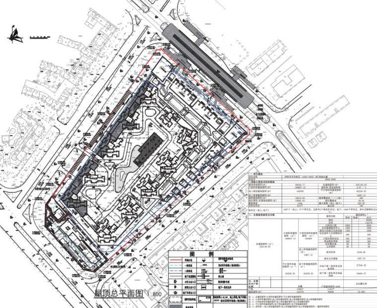 [广东]欧陆风格居住区建筑方案文本(PDF+127页)-屋顶平面图