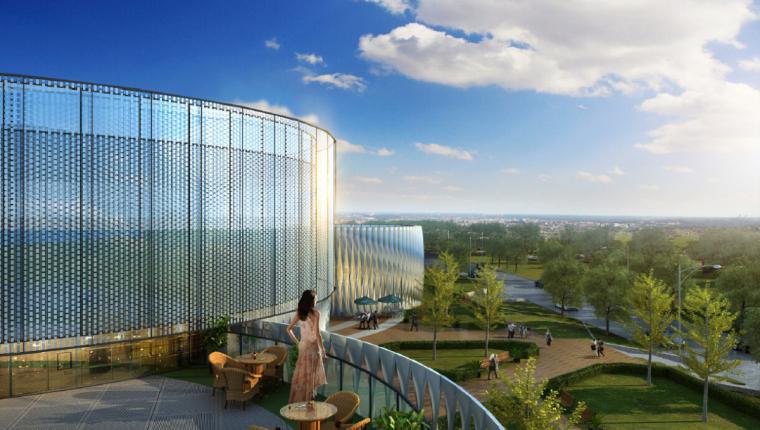 [北京]现代风格健康城售楼处建筑模型设计