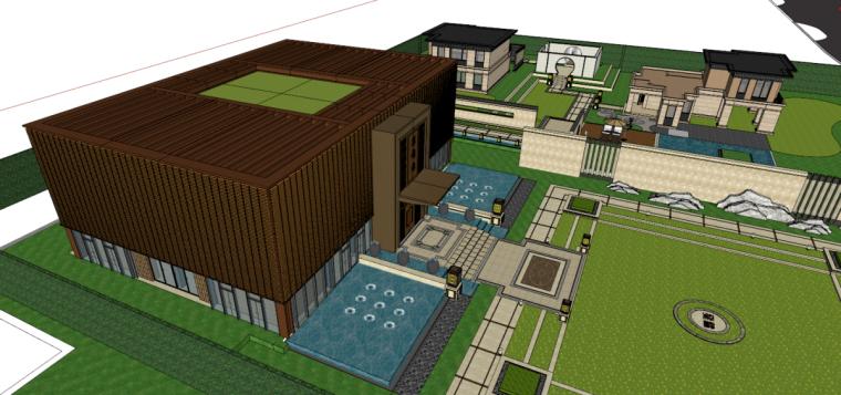 [江苏]苏州蓝光雍锦园中式示范区建筑模型设计(中式风格)-苏州蓝光雍锦园中式示范区 (1)