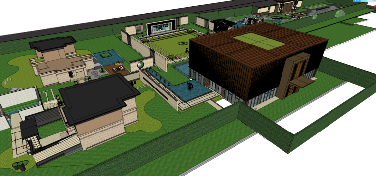 [江苏]苏州蓝光雍锦园中式示范区建筑模型设计(中式风格)-苏州蓝光雍锦园中式示范区 (2)