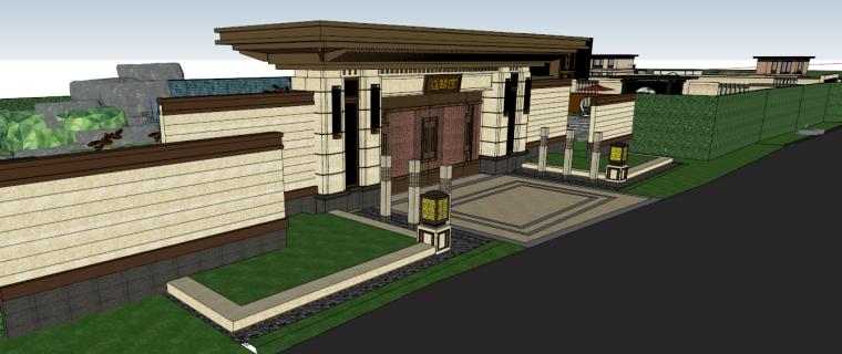 [江苏]苏州蓝光雍锦园中式示范区建筑模型设计(中式风格)-苏州蓝光雍锦园中式示范区 (3)
