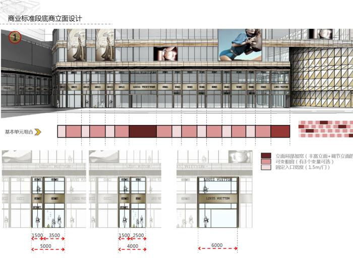 绿都溁湾镇S5地块立面深化方案(PDF,72页)-商业标准段底商立面设计