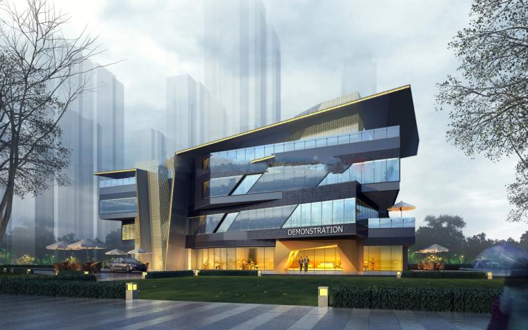 沈阳三台子售楼处建筑模型设计(现代风格)-三台子售楼处+cad (3)