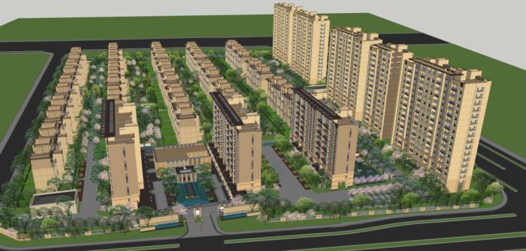 [江苏]苏州旭辉铂悦府地块新亚洲风格豪宅建筑模型设计(2018年)