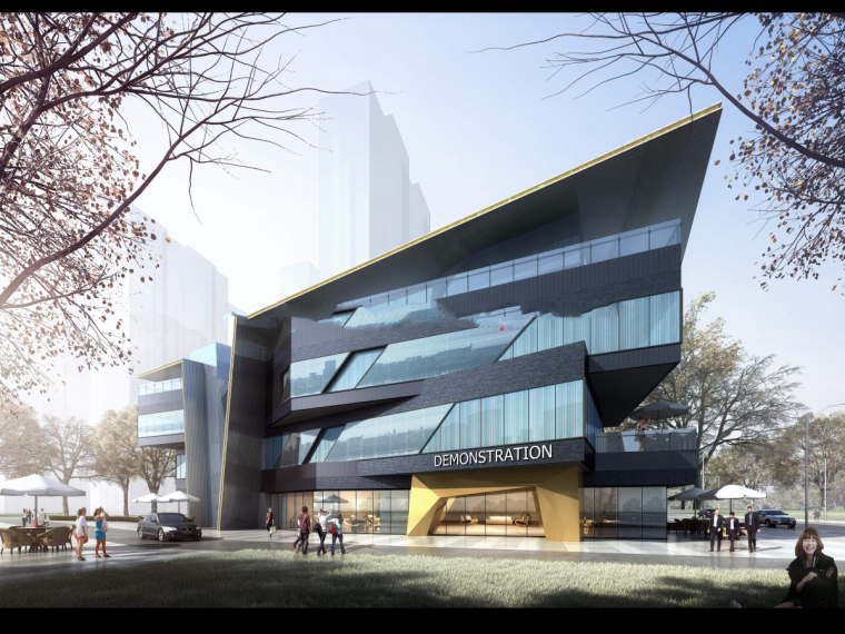 沈阳三台子售楼处建筑模型设计(现代风格)-三台子售楼处+cad (4)