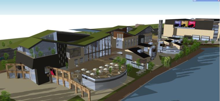 绿地顾村商业广场建筑模型设计(现代风格)